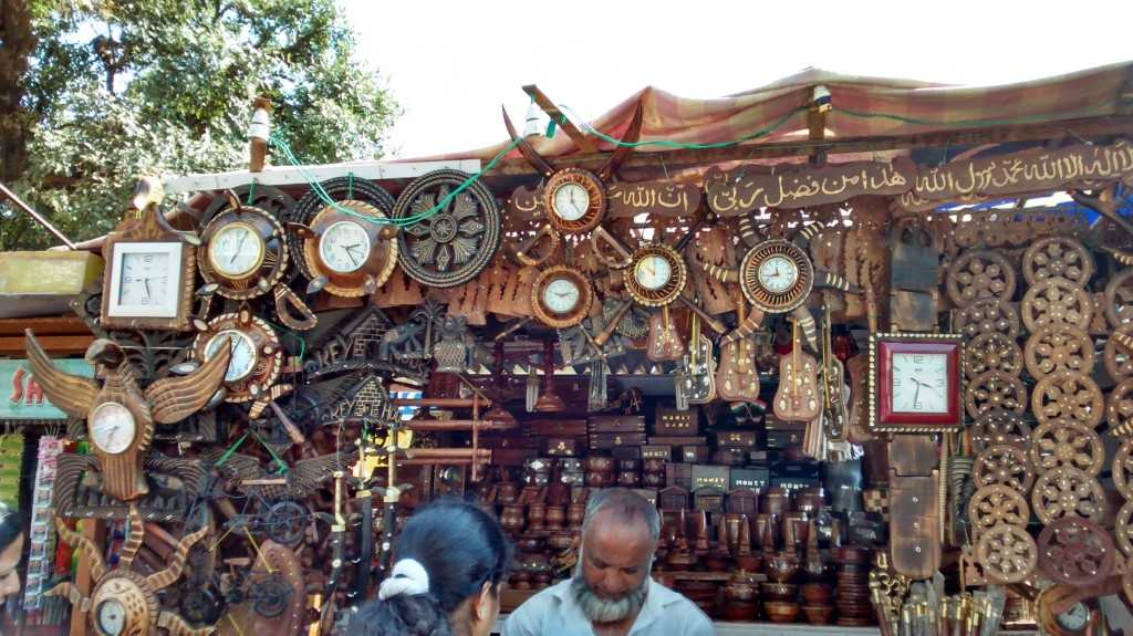 Shop selling wooden artifacts