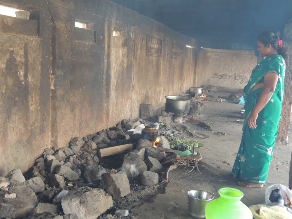 Traditional Cooking near the temple